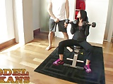 Petite Rebecca Thomas Enrolls In Steve Awesome&'s Tex Sex Gym