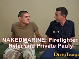 Super Hot Fireman Military Suck Off