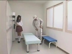 Japanese schoolgirl and their janitor