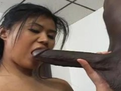 Dirty Asian Co-Ed Enjoys Black Dick & Having Sex