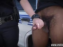 Busty lesbian cop and black police gangbang We are the Law my niggas,